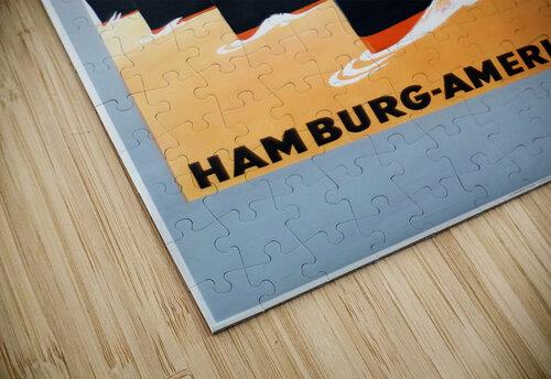 To New York Hamburg American Line travel poster jigsaw puzzle