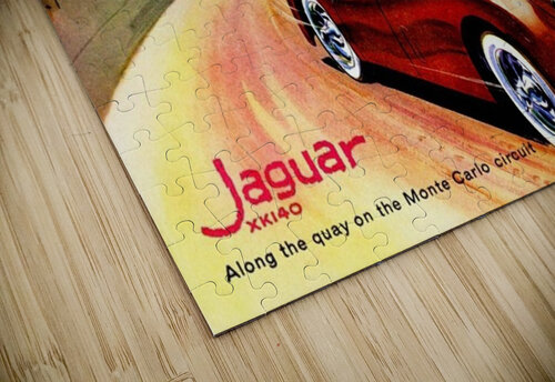 Jaguar Advertising Vintage Poster jigsaw puzzle