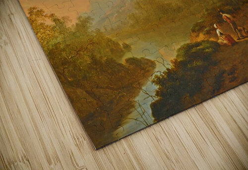Travellers in a river landscape jigsaw puzzle