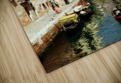 Along Venetian canal jigsaw puzzle