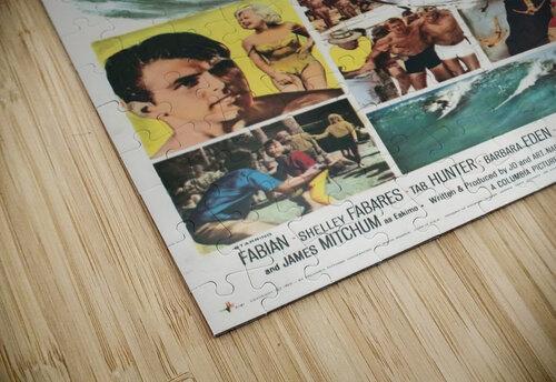 Original Vintage Surfing Movie Poster - Ride The Wild Surf jigsaw puzzle