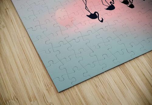Family flamingos jigsaw puzzle