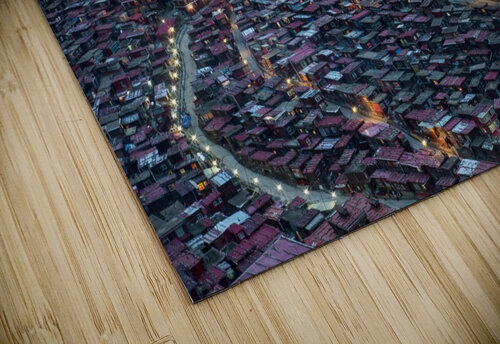 The Larung Ngarig Buddhist Academy at Night jigsaw puzzle
