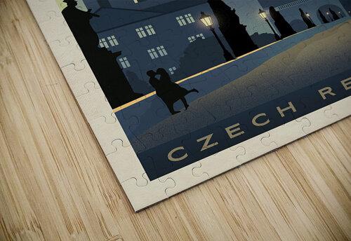 Prague vintage travel poster jigsaw puzzle