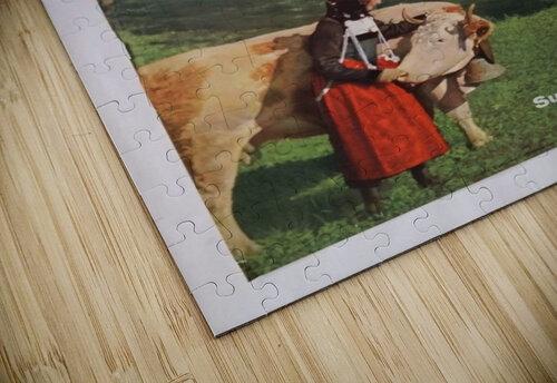 1960 Grindelwald Switzerland original vintage poster jigsaw puzzle