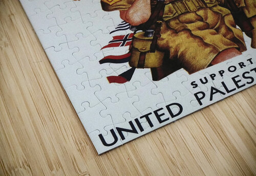 1942 United Israel appeal poster jigsaw puzzle