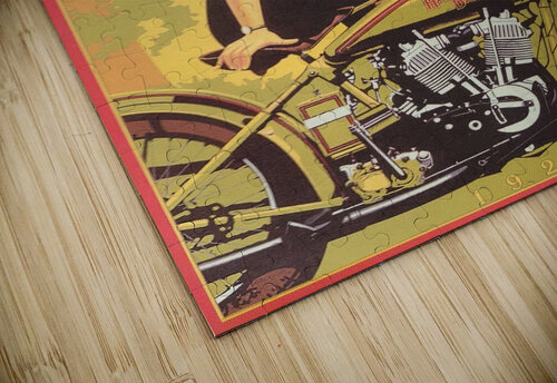 1929 Harley Davidson Shifting into Popularity jigsaw puzzle