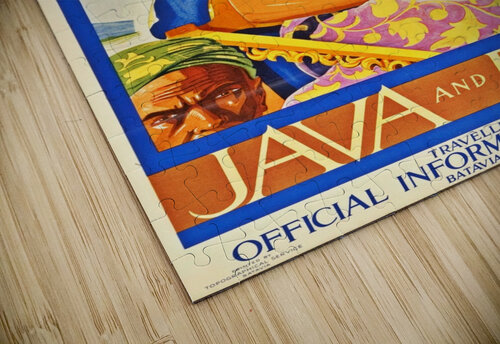 Java and Bali travel poster jigsaw puzzle