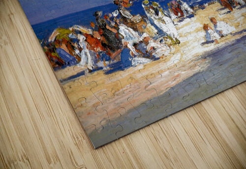 People by the beach jigsaw puzzle