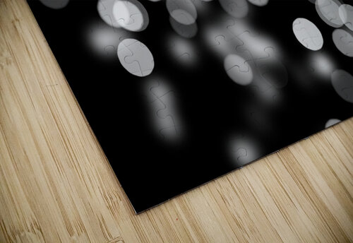 Bokeh Out Of Focus Black White Background Light jigsaw puzzle