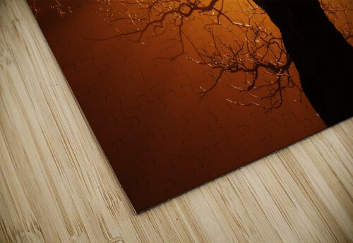 abstract sun tree jigsaw puzzle
