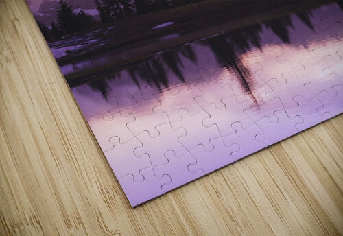 Sunset and a small reflecting pond near tipsoo lake mt. rainer national park near seattle;Washington united states of america jigsaw puzzle