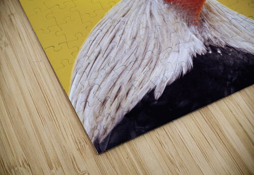 Crowing rooster;British columbia canada jigsaw puzzle