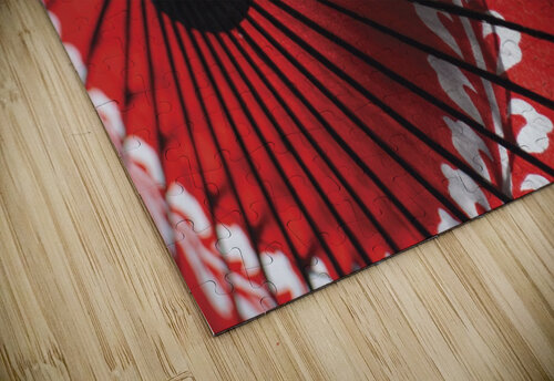Japanese red umbrella; Kyoto, Japan jigsaw puzzle