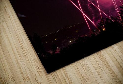Colourful fireworks at nighttime; Calgary, Alberta, Canada jigsaw puzzle