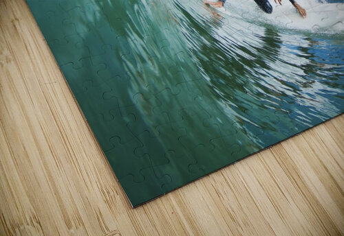 Surfer On Blue Ocean Wave jigsaw puzzle