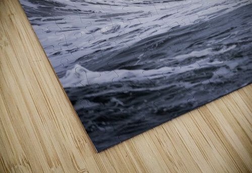 A large wave breaks on a stormy morning; Seaside, Oregon, United States of America jigsaw puzzle