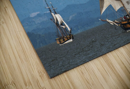 Tall ships sail on the Columbia River near Astoria; Oregon, United States of America jigsaw puzzle