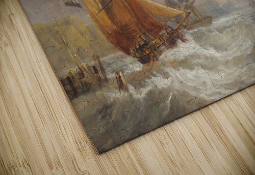 A stormy day of the sea jigsaw puzzle