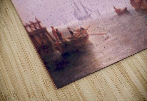 Shipping off a Dutch Port jigsaw puzzle