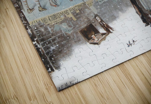 Watching a theatre poster jigsaw puzzle