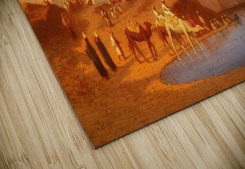 Arab encampment outside city jigsaw puzzle