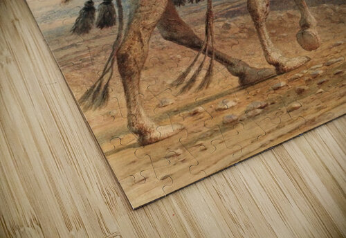 A family crossing the desert jigsaw puzzle