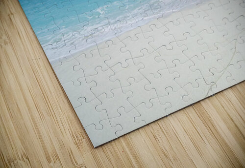 Northwestern Hawaiian Islands, Midway Atoll, Sand Island, Turquoise Ocean And White Sand Beach. jigsaw puzzle