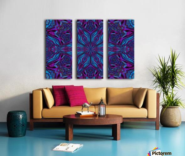 Crystal Flower 3 Split Canvas print