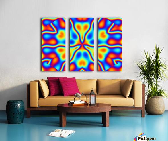 California Wildflowers in Rainbow Split Canvas print