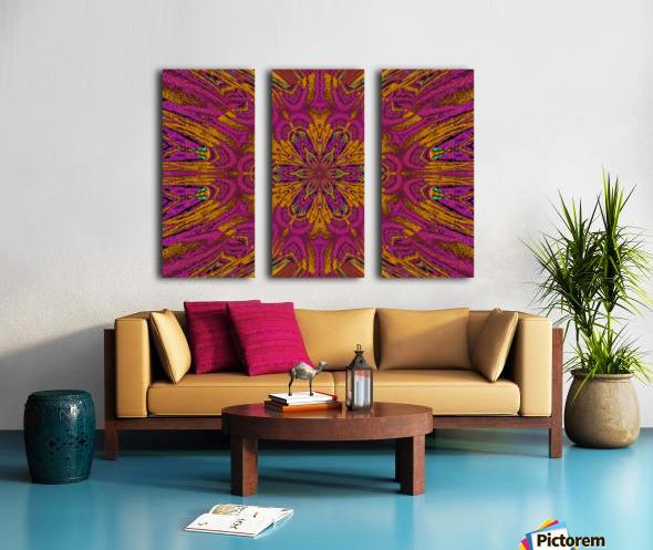 Pink Orange Jasmine Split Canvas print