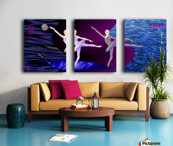 Dance of the Swans Split Canvas print
