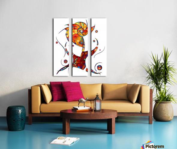 Espanessua - imaginery spiral flower Split Canvas print