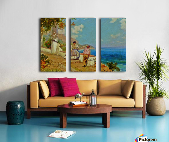 Courting couple in Naples Split Canvas print