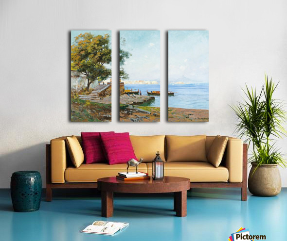 La baie de Naples Split Canvas print