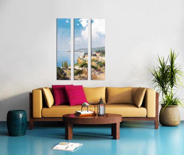 Sunny day on Naples Bay Split Canvas print