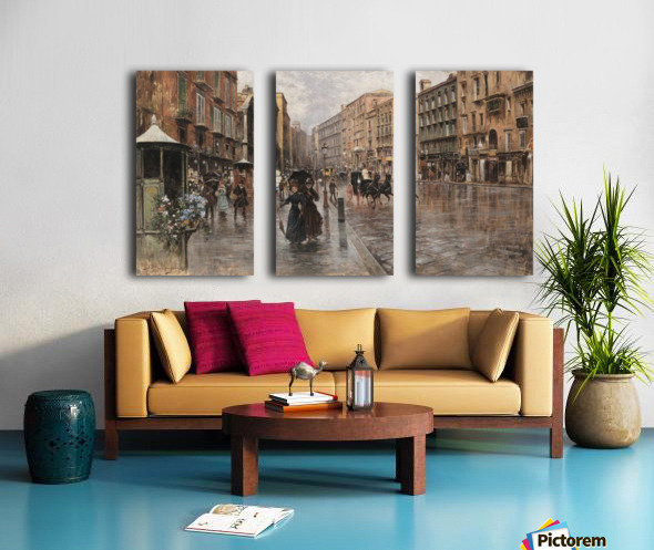 Napoli, Via Toledo Split Canvas print