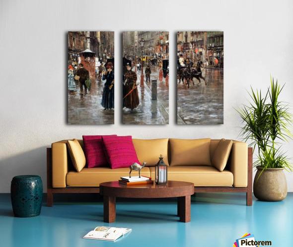 Naples via Toledo, with rain drops Split Canvas print