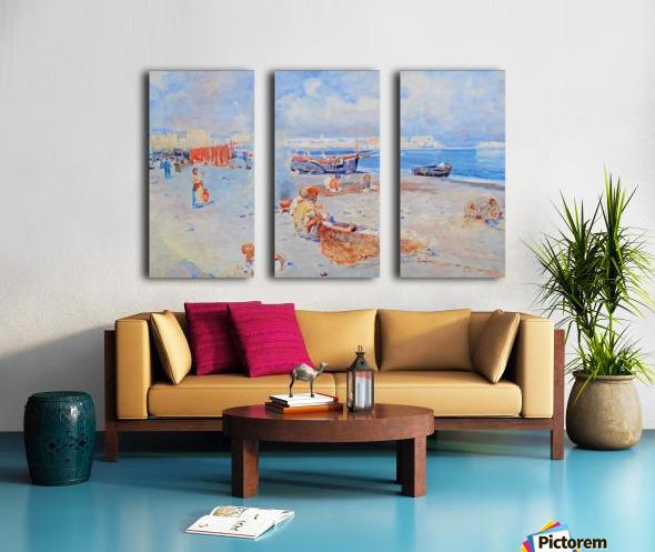 Beach of Mergellina Split Canvas print