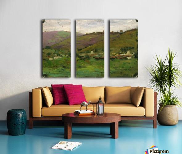 Landscape with houses on an Italian hill Split Canvas print
