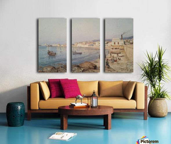 Marina di Napoli Split Canvas print