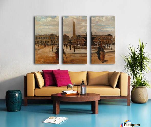 Place of the Concorde animated Split Canvas print