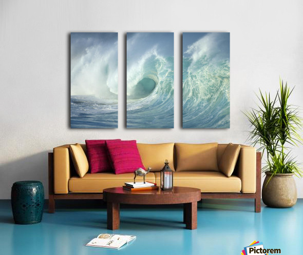 Huge Wave Curling, Crashing Side View Of Curl C1723 Split Canvas print