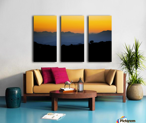 Layer of dawn Split Canvas print