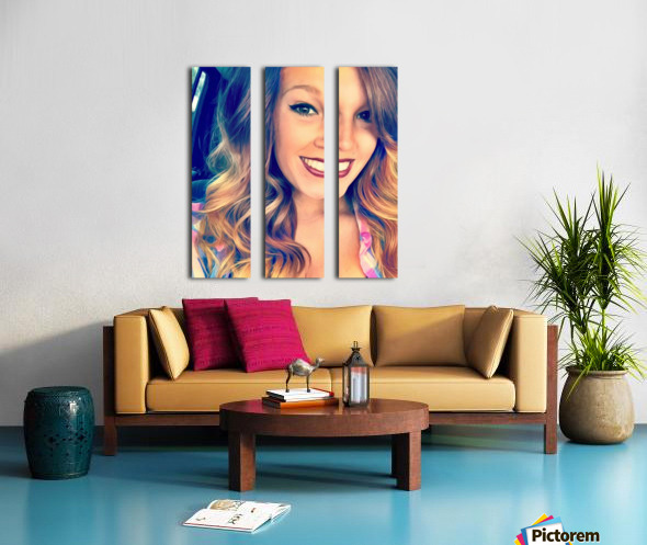 EM- Female pic art model Split Canvas print