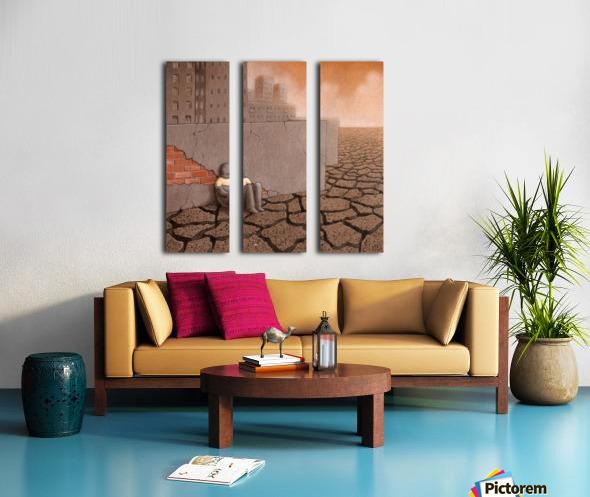 Dead City Split Canvas print