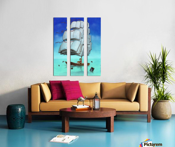 Journey with sharks Split Canvas print