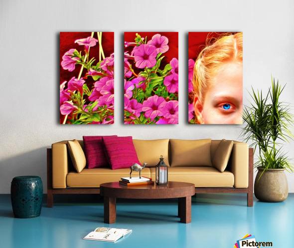 womanflowersEYE Split Canvas print