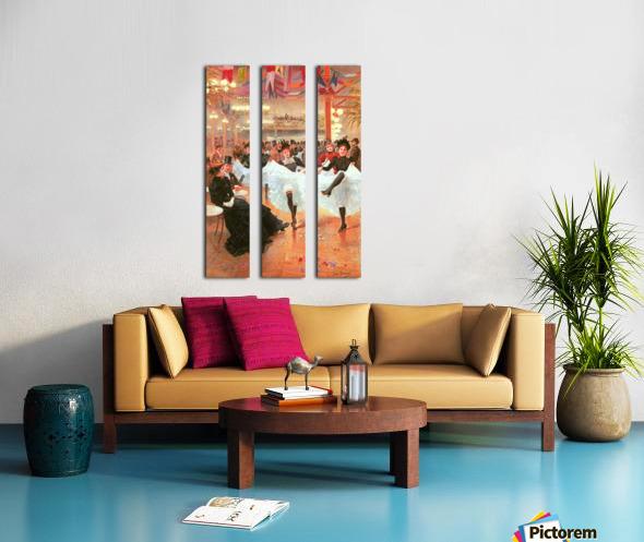 Cafe de Paris Split Canvas print