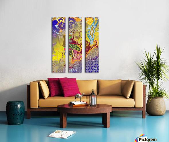 Spirit Fox Split Canvas print